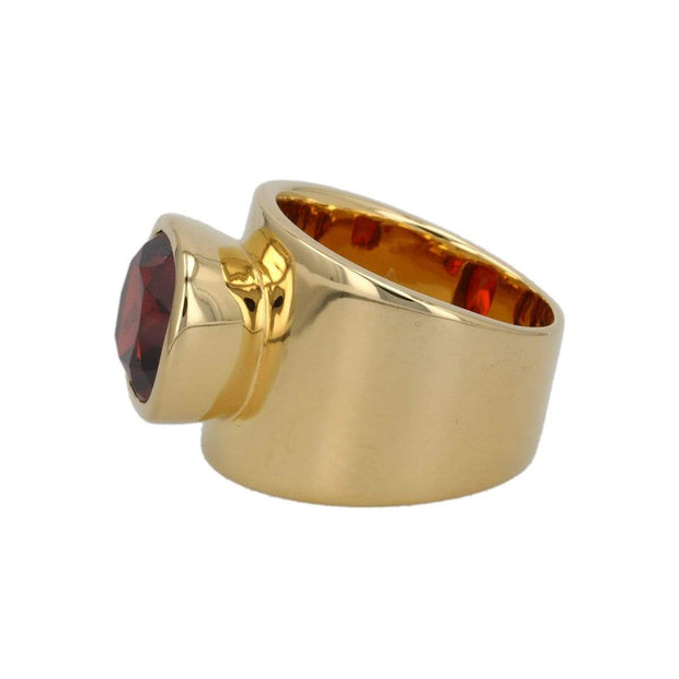 Lilly Ring - Red Garnet / 18K Gold Vermeil