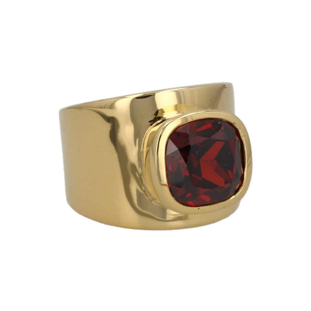 Adore Adorn Lilly Ring 18K Gold Red Garnet