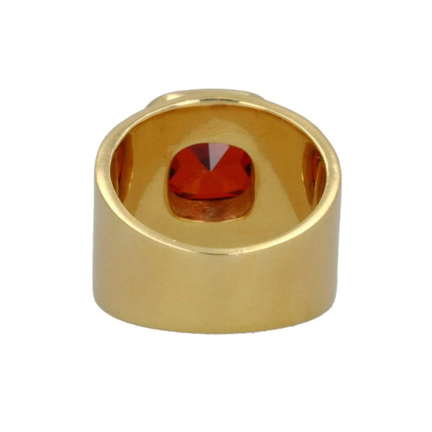 Lilly Ring - Red Garnet / Brushed Gold