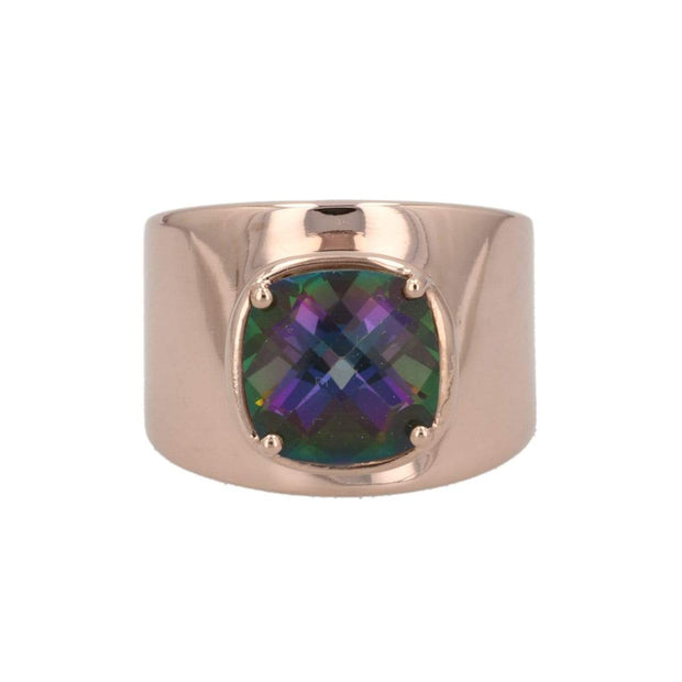Adore Adorn Ring Lilly Ring (Rose Gold/Mystic Topaz)