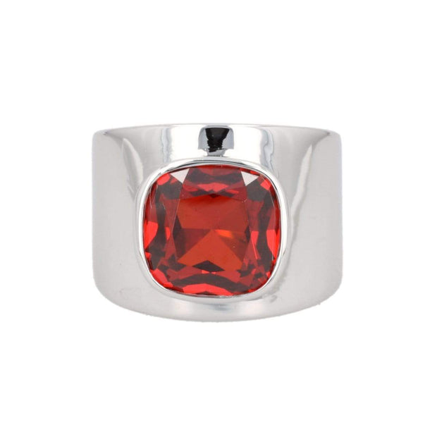 Adore Adorn Lilly Ring – Silver / Red Garnet
