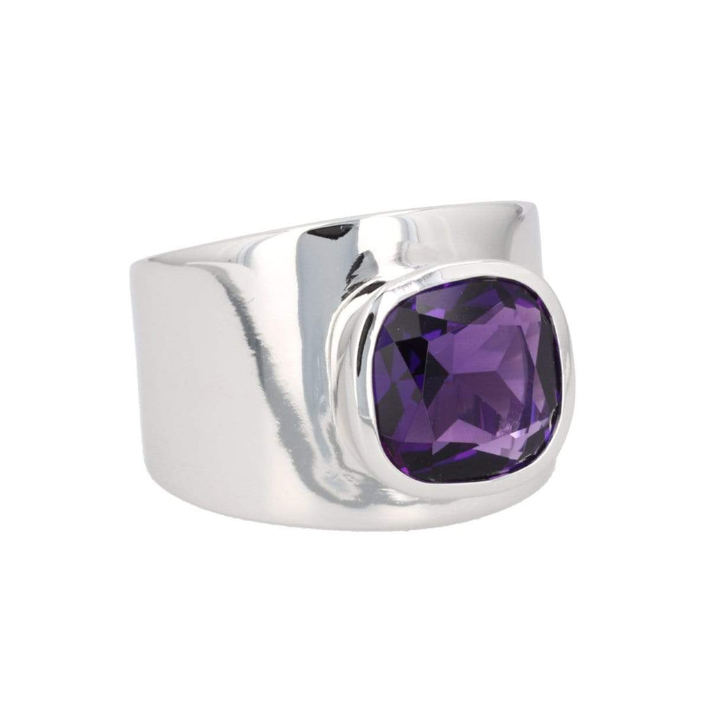 https://cdn.shopify.com/s/files/1/2525/7200/files/LILLY_RHODIUM_AMETHYST.mp4?360=true, Options: Amethyst