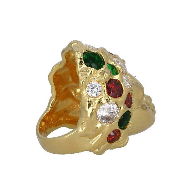 Adore Adorn Ring Missy Ring - 14K Gold / Red & Green Crystals