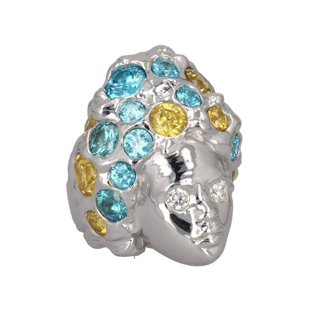 Adore Adorn Ring Missy Ring - London Blue + Yellow Topaz