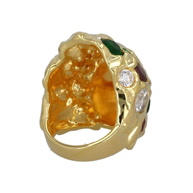 Adore Adorn Ring Missy Ring - Red + Green + White Quartz
