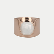 Adore Adorn Ring Mother of Pearl / Rose Gold / 925 Silver Lilly Ring (Personalized)