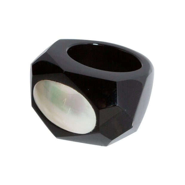 Adore Adorn Ring Mother Onyx Cut Ring