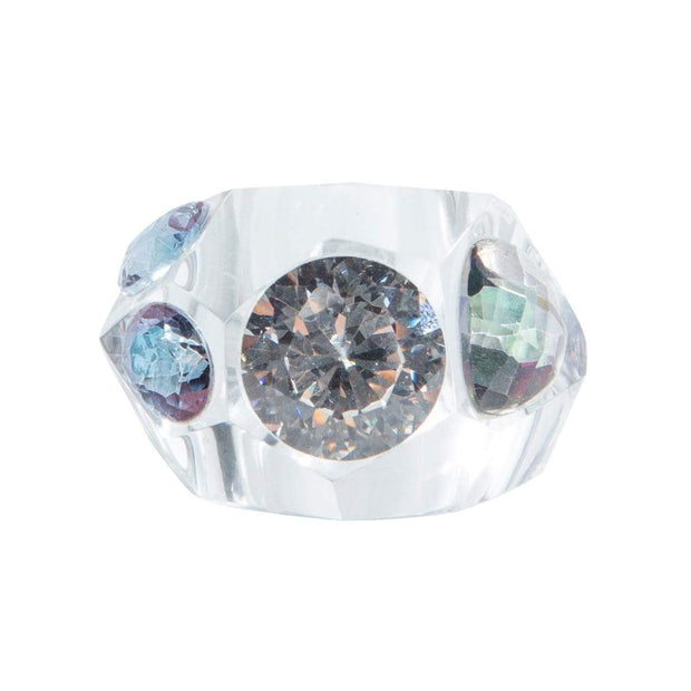 Adore Adorn Ring Mystical Crystal Cut Ring