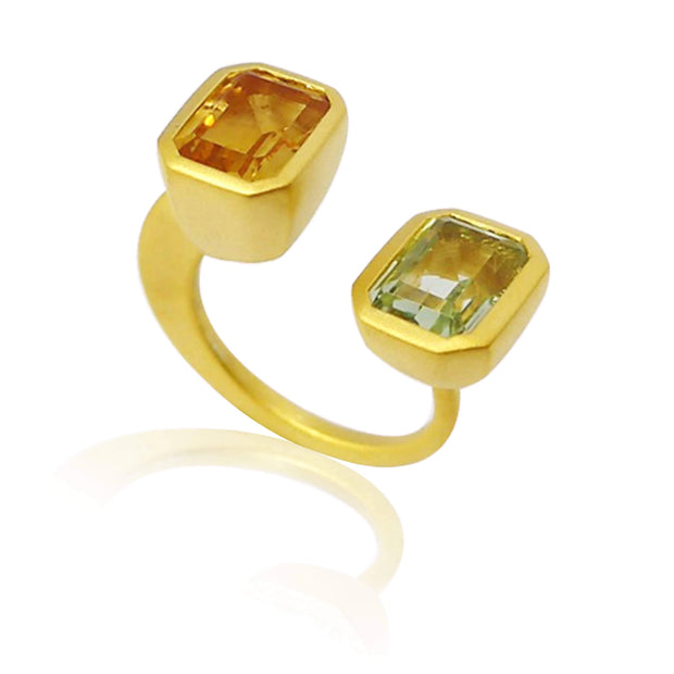 "Adore Adorn Ring NEW! Matte Citrine + Peridot ""Lila"" Ring 2.0"