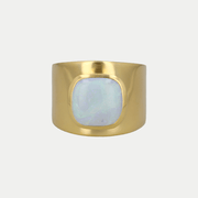 Adore Adorn Ring Opal / Brushed Gold / 925 Silver Lilly Ring (Personalized)