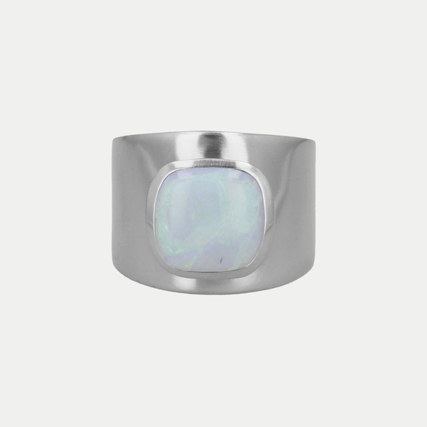 Adore Adorn Ring Opal / Brushed Silver / 925 Silver Lilly Ring (Personalized)