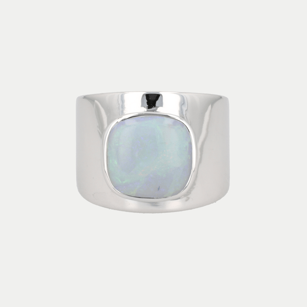 Adore Adorn Ring Opal / White Rhodium / 925 Silver Lilly Ring (Personalized)