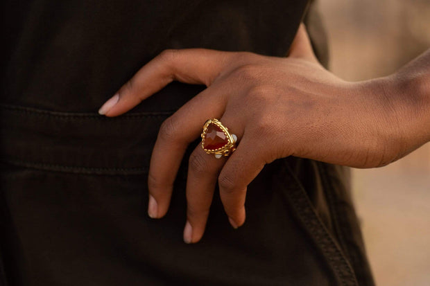Adore Adorn Ring Pac Gem Ring in 14K Gold