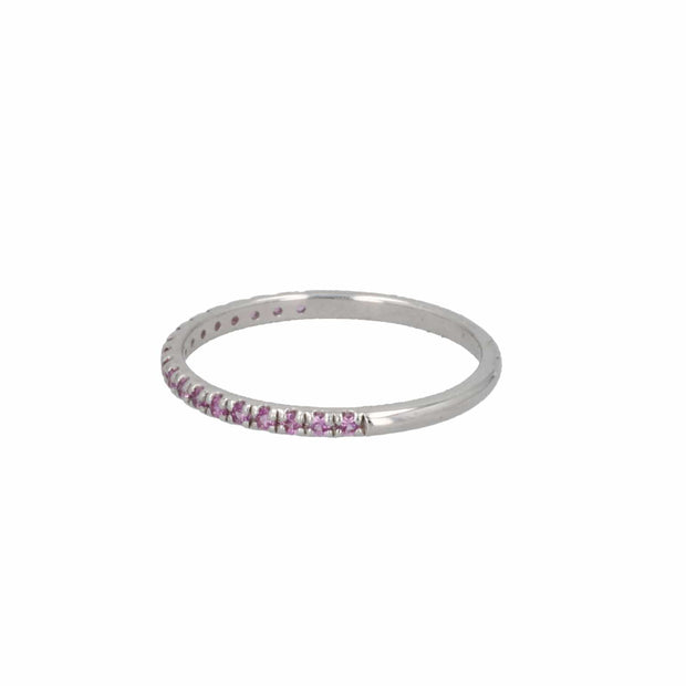 Adore Adorn Ring Pavé Pink Sapphire Individual Ring