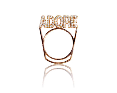 Adore Adorn Ring Rose Gold - Adore Stackable Ring
