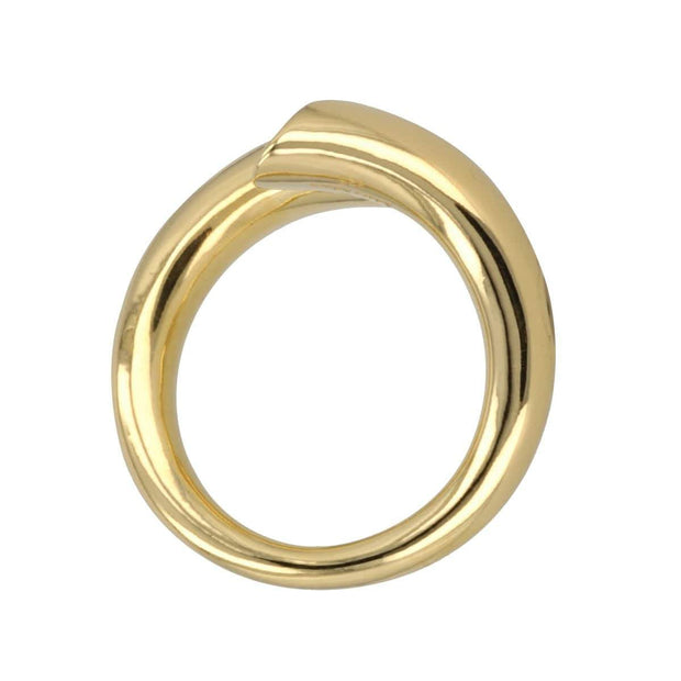 Adore Adorn Ring Twisted Ring - 14K Gold / Mother Of Pearl