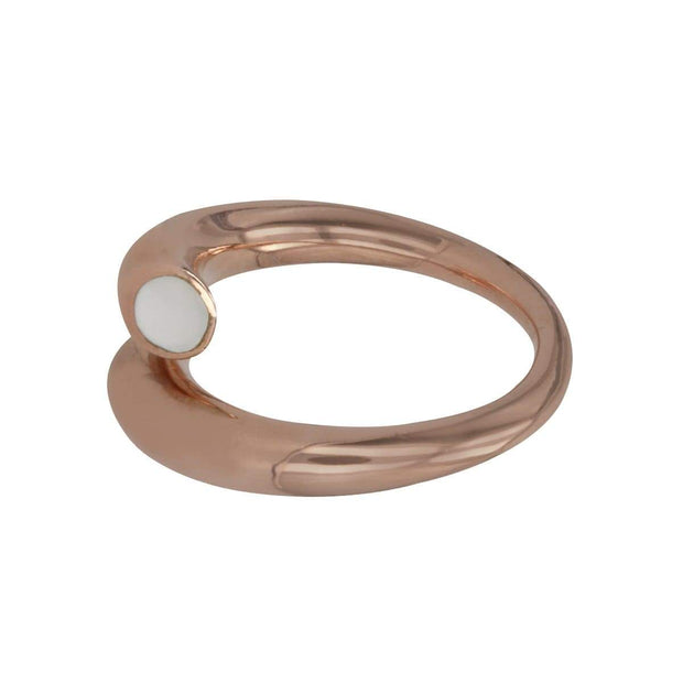Adore Adorn Ring Twisted Ring - Rose Gold / Mother Of Pearl