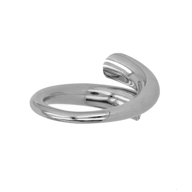 Adore Adorn Ring Twisted Ring - Silver / Mother Of Pearl