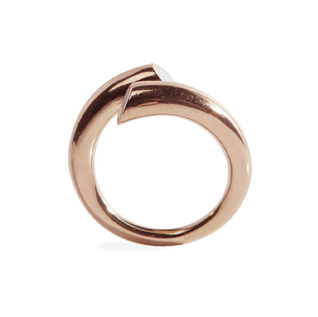 "Adore Adorn ""Shari"" Hoop Rose Gold/Red Garnet + ""Twisted"" Ring  Rose Gold /Mother of Pearl"
