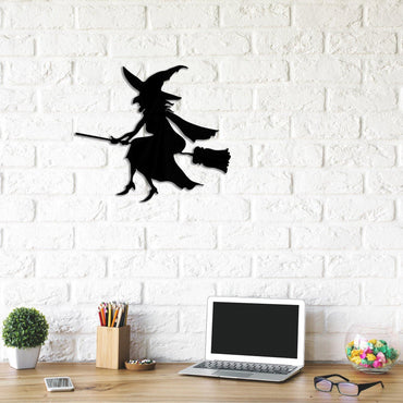 Witch Flying on Broom Handmade - Decorotika