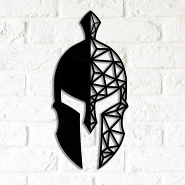 Spartan Helmet Metal Wall Decor - Decorotika