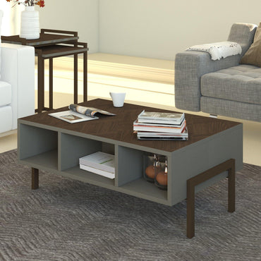 "Linea 36"" Coffee Table with Metal Legs - Decorotika"