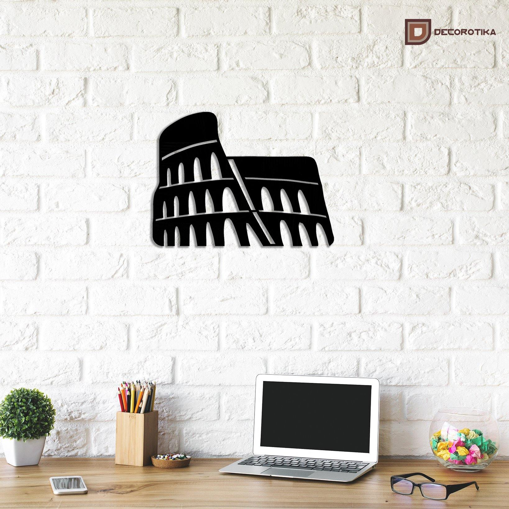 Coliseum Handmade Metal Decorative Wall Art - Decorotika
