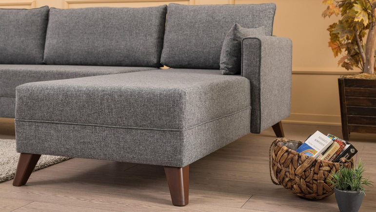 Bella Right-Hand Corner Sofa - Gray