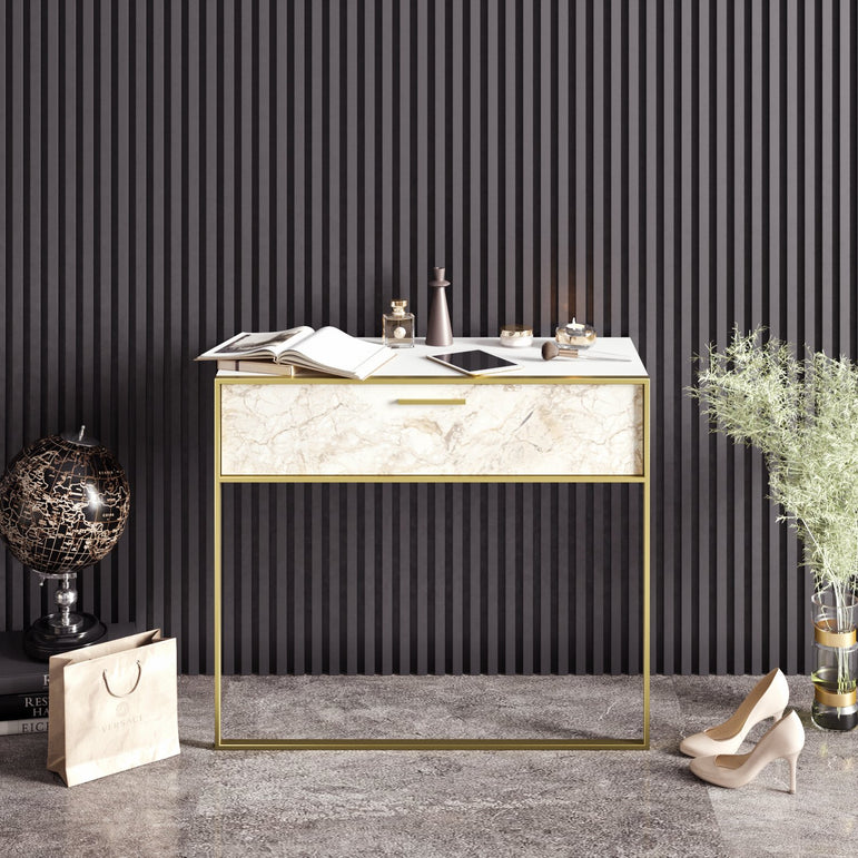 "Polka 35"" Wide Metal Wood Dresuar - Decorotika"