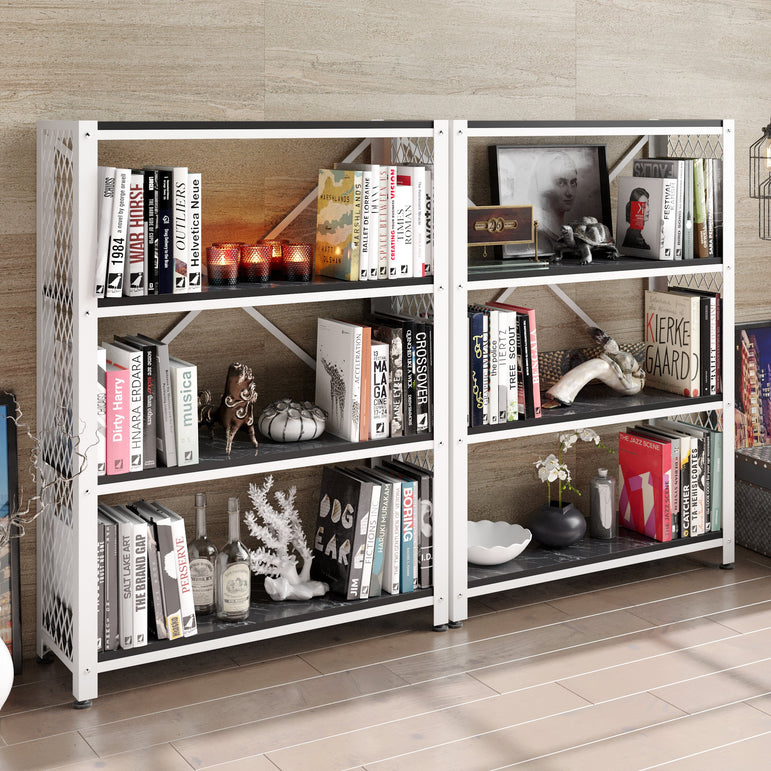 Shenna 47.8'' Tall Metal Wood Accent Bookcase