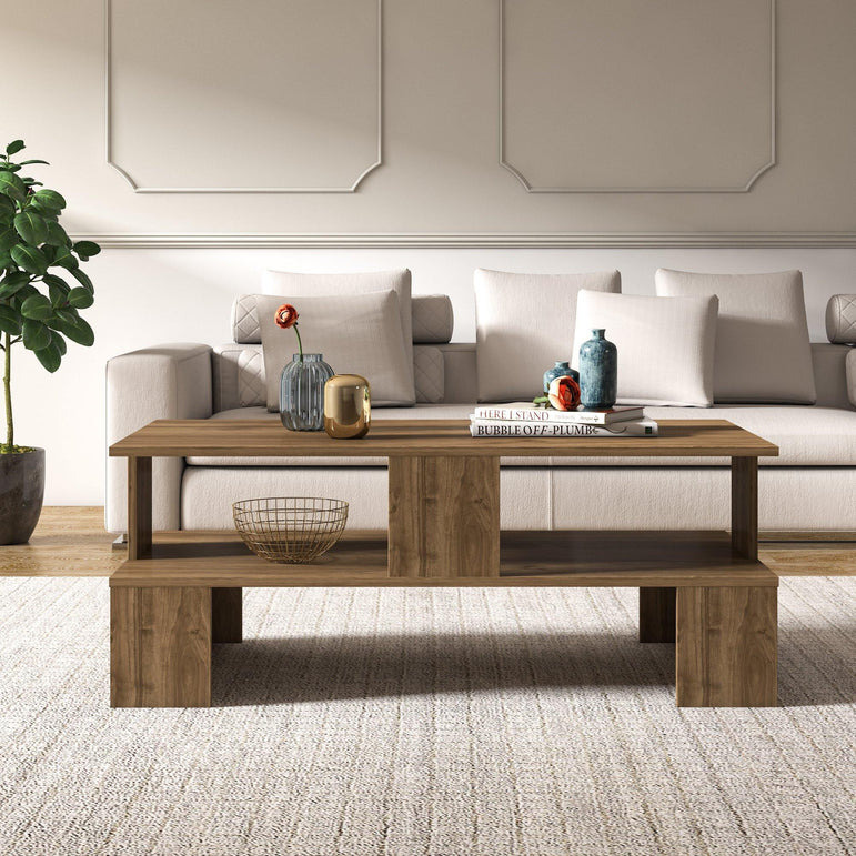 "Evans 47"" Wide Coffee Table - Decorotika"