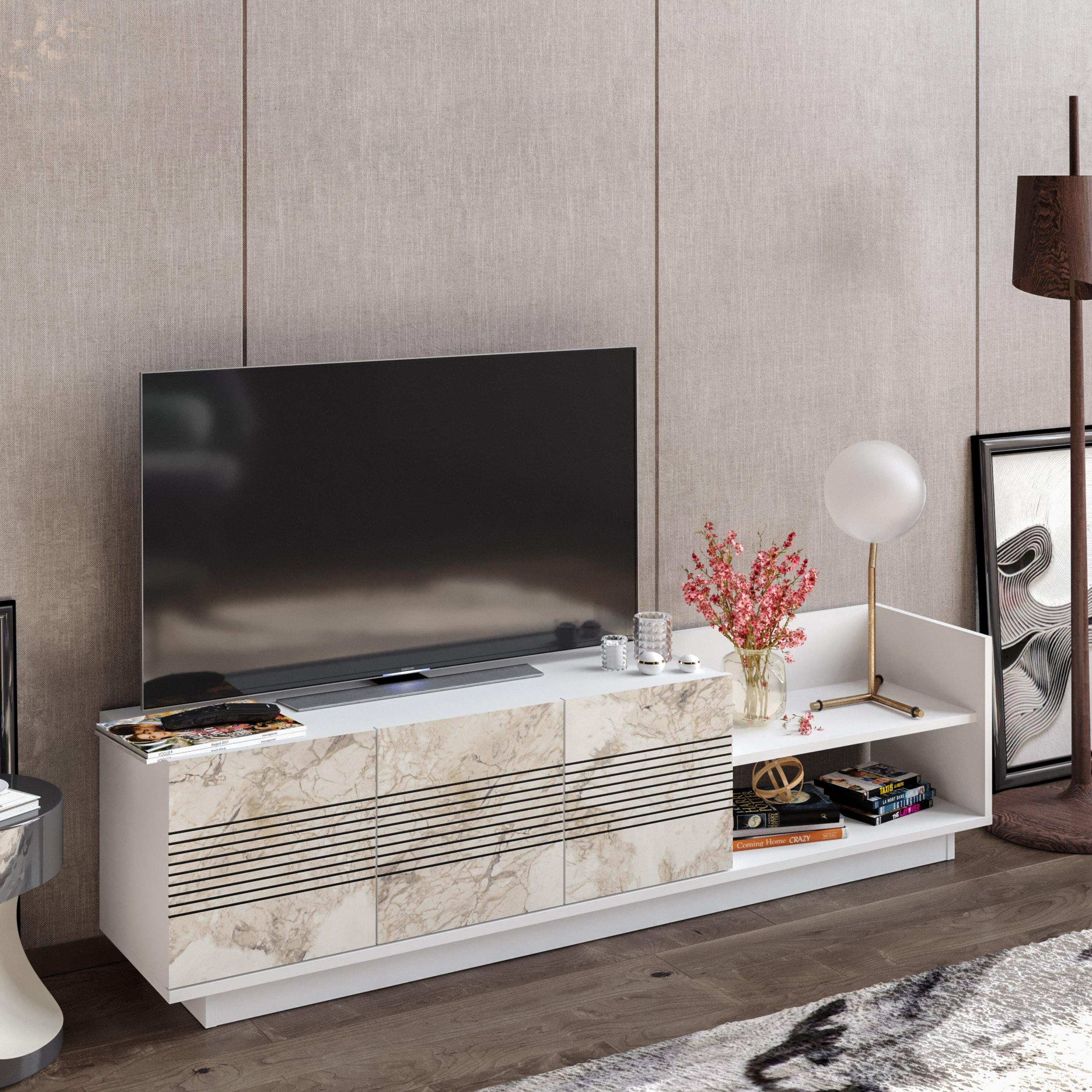 Viano TV Stand and Media Console for TVs up to 47
