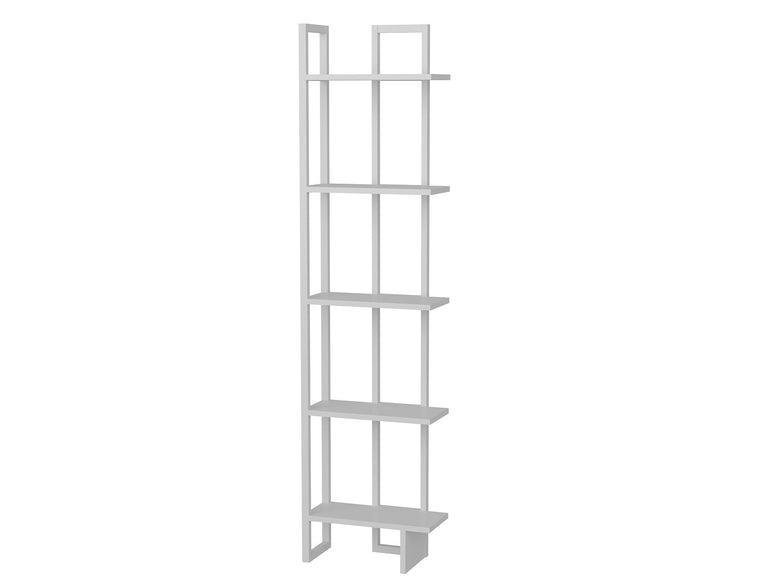 "Alice 71"" Tall Metal Manufactured Wood Bookcase - Decorotika"