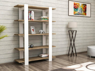 "Kata 48"" Tall Modern Accent Bookcase - Decorotika"