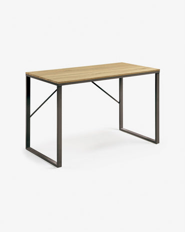 Landi 47'' Wide Metal Wood Computer Desk - Decorotika