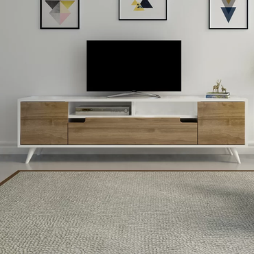 "Nalmes 63"" TV Stand & Media Console with Cabinet & Shelves for TVs up to 73"" - Decorotika"