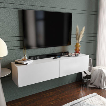 "Poling 63"" Wide Floating TV Stand and Media Console for TVs up to 70"""