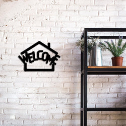 Welcome Sign Handmade Metal - Decorotika