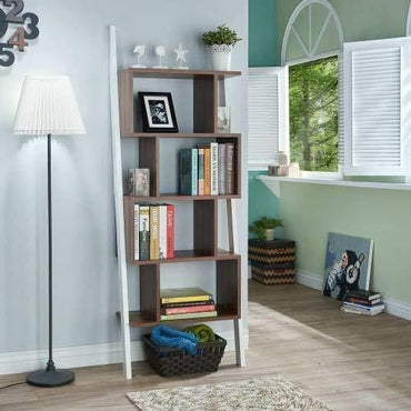 "Toledo 71"" Tall Leaning Ladder Style Bookcase - Decorotika"