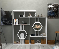 "Tamara 53"" Tall Unique Geometric Bookcase - Decorotika"