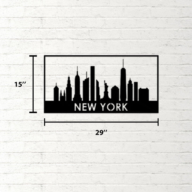 New York Day Handmade Metal Decorative Wall Art - Decorotika