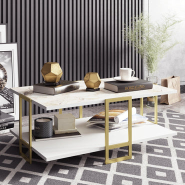 Polka Metal Wood Coffee Table - Decorotika