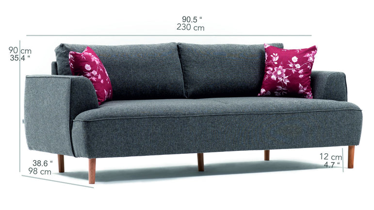 Felix Sofa - Dark Gray - Decorotika