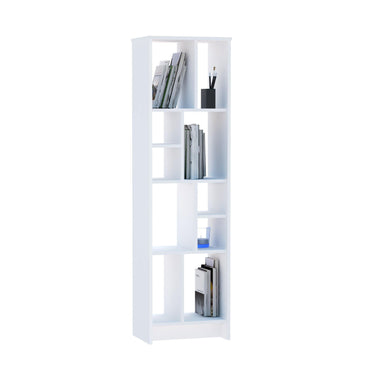 Manhattan 69'' Tall Modern Accent Bookcase with Five Tier Open Shelves - White - Decorotika