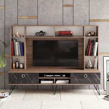 "Lorenz 71"" Wide TV Stand & Entertainment Center - Decorotika"
