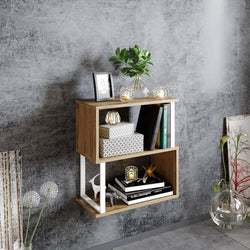 Lima 25'' Metal Wood Side End Table - Decorotika
