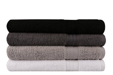 Decorotika Soft, Colorful and Highly Absorbent Premium Quality 100% Turkish Cotton 4 Piece Bath Towel Set with Special Gift Box in Various Color Options - Size 28'' x 55'' (70 x 140 cm) - Decorotika