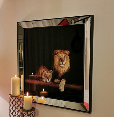 Lions Mirror Enhanced Modern - Decorotika