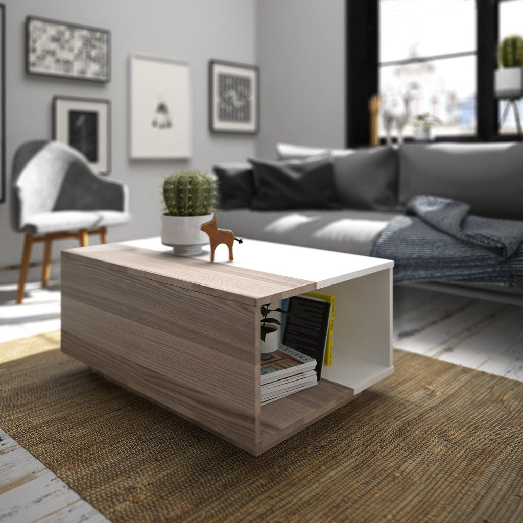 Surprise Modern Living Room Coffee Table With Open Shelves