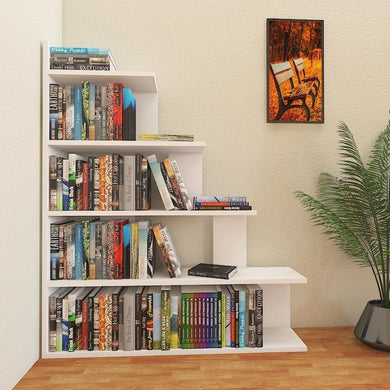 Echo 47'' Tall Ladder Style Accent Bookcase - Decorotika